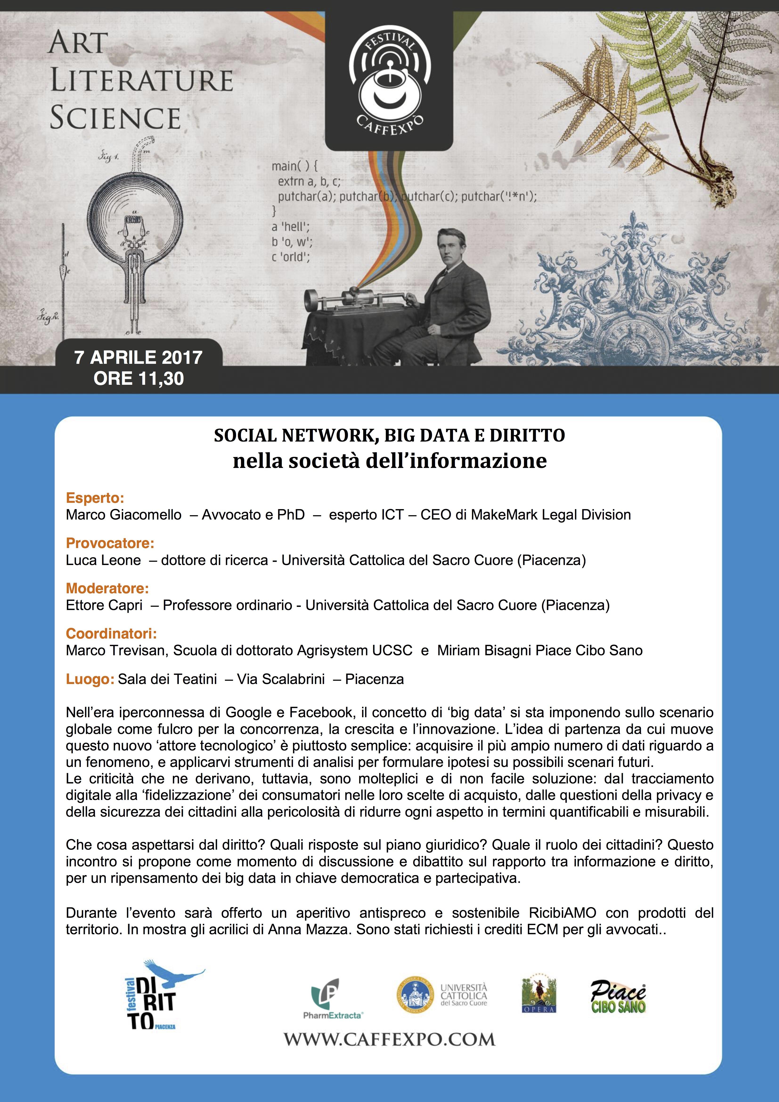 CaffExpo Big Data, Social Network e Diritto nella società dell'informazione