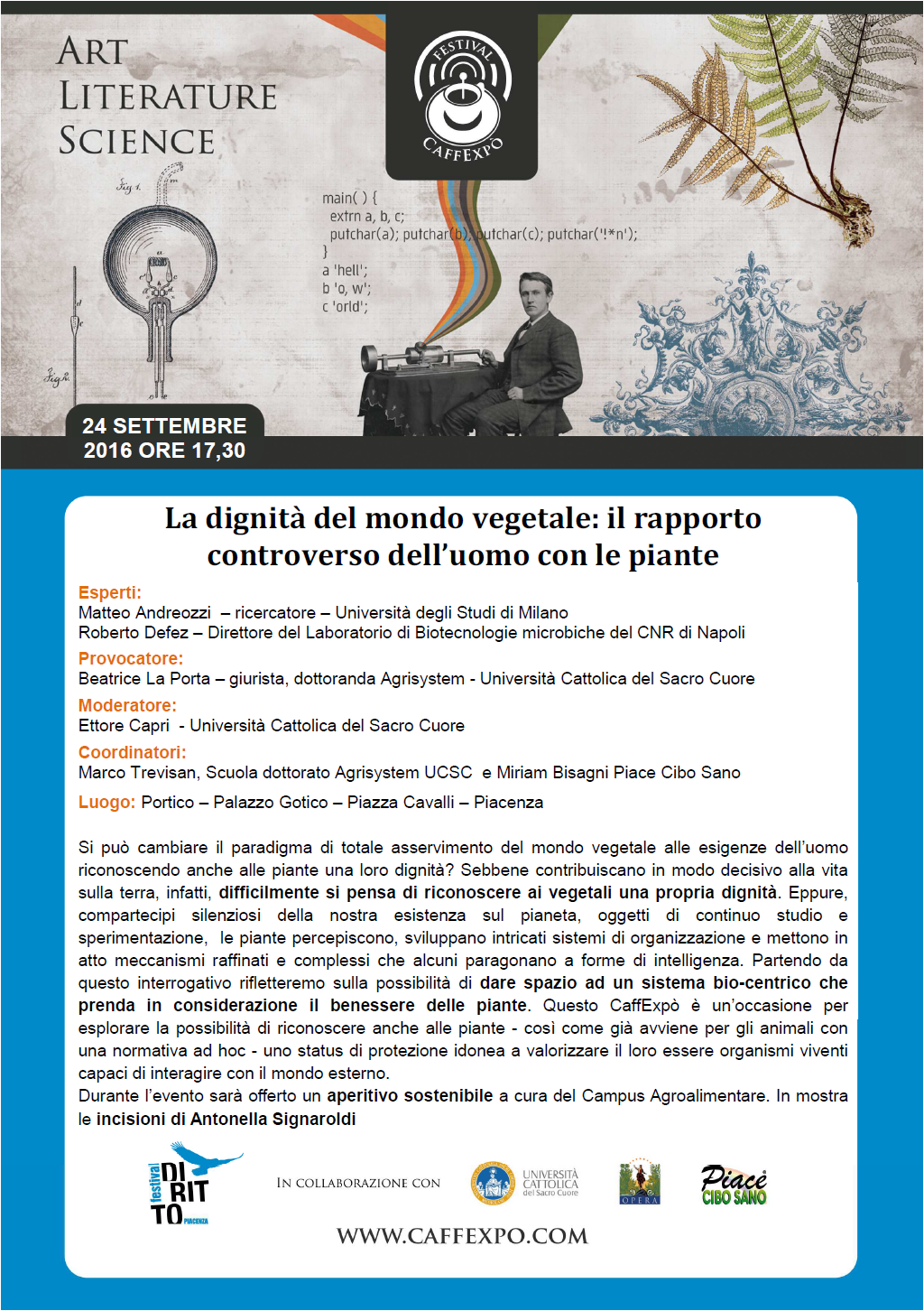 caffexpo 24 settembre 2016 Festival del Diritto Piacenza